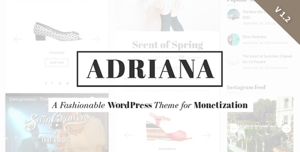 Adriana - Fashion WordPress Theme - Personal Blog / Magazine