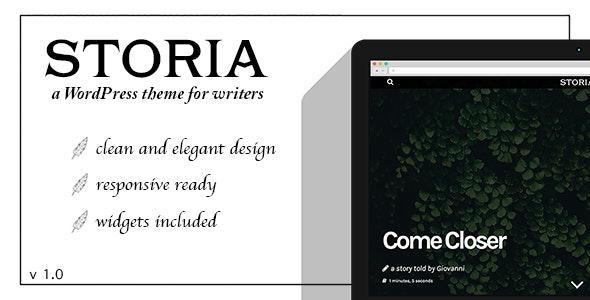 Storia - A WordPress Theme for Writers, Bloggers, Storytellers - Blog / Magazine WordPress