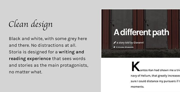 Storia - A WordPress Theme for Writers, Bloggers, Storytellers