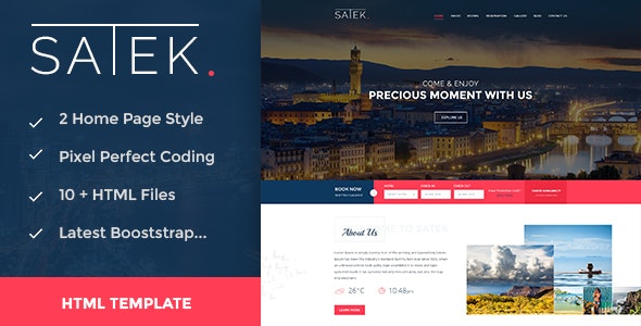 Satek : Resort and Hotel HTML Template - Travel Retail