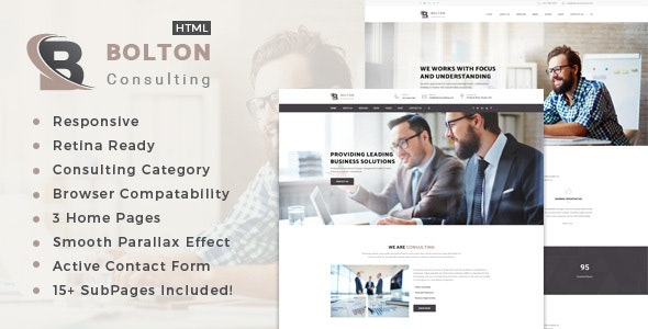 Bolton : Business, Finance and Consultancy Template - Business Corporate