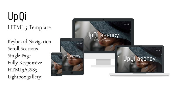 UpQi - Responsive Multipurpose One Page HTML5 Template for Agencies / Companies - Creative Site Templates