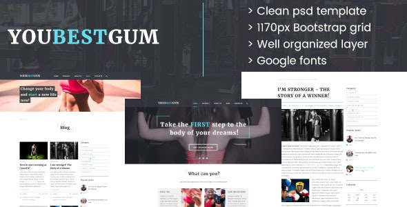 Your Best Gum - PSD Template - Health & Beauty Retail
