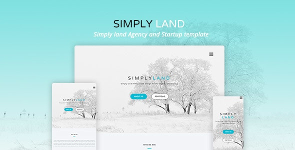 Simply land - Agency landing HTML Template - Creative Site Templates