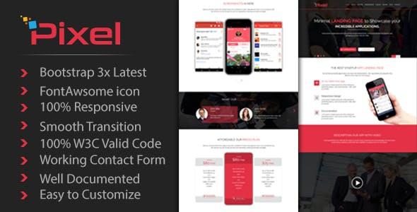PIXEL - App Landing Page Template