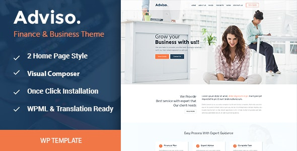 Adviso - Finance, Consulting, Business WordPress Theme - Business Corporate