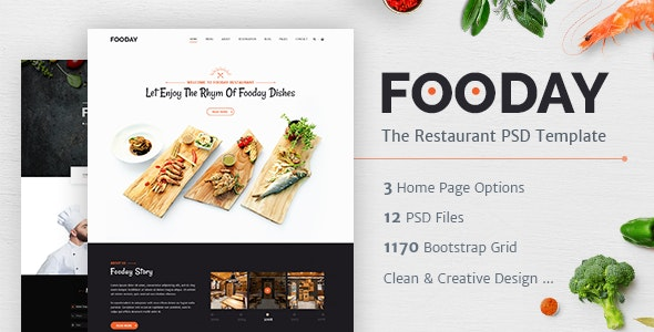 Fooday - Restaurant PSD Template - Food Retail