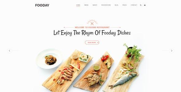 Fooday - Restaurant PSD Template