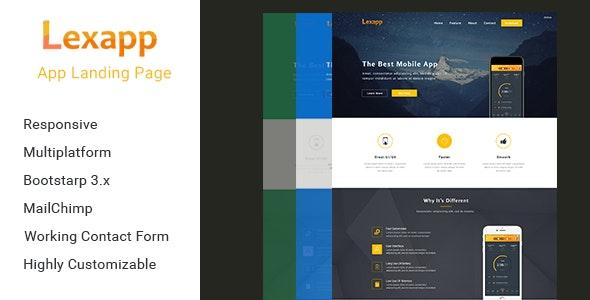 Lexapp -  App Landing Template - Technology Site Templates