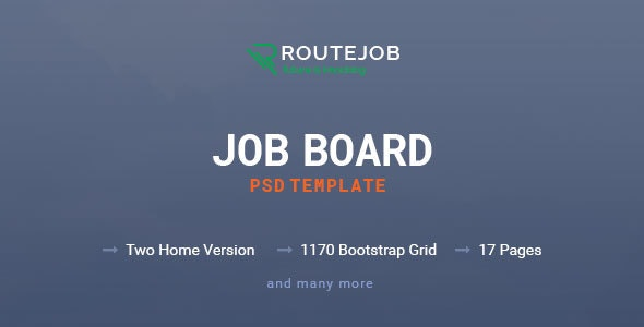 ROUTEJOB - Job Board PSD Template - Corporate PSD Templates