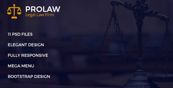 Prolaw Legal Law Firm - Attorney PSD Templates - Business Corporate