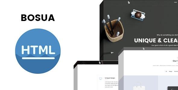 Bosua Multi-purpose HTML Template - Corporate Site Templates