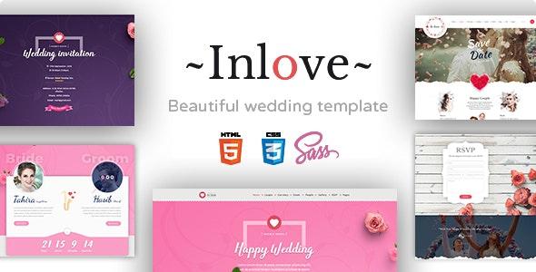 Inlove - Wedding & Planner - Wedding Site Templates