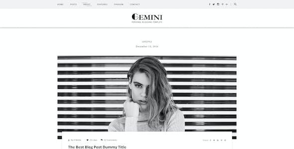 Gemini Personal Blogging PSD Template