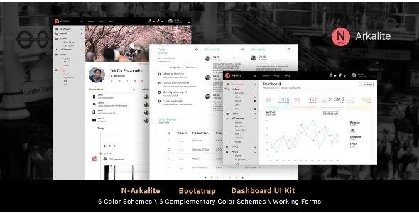 N-Arkalite | Responsive & Clean Bootstrap 4 Admin Template - Admin Templates Site Templates