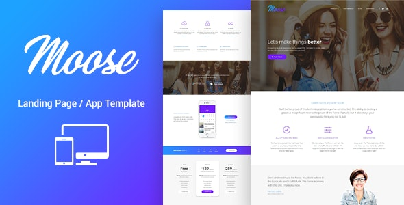 Moose - Modern Landing Page HTML Template - Corporate Landing Pages