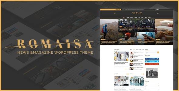 Romaisa News & Magazine PSD Template