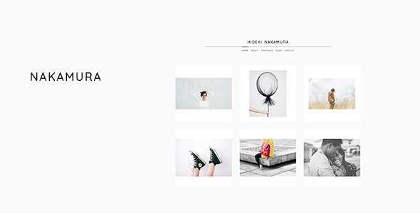 Nakamura - Minimal Photography and Portfolio WordPress Theme - Photography Creative
