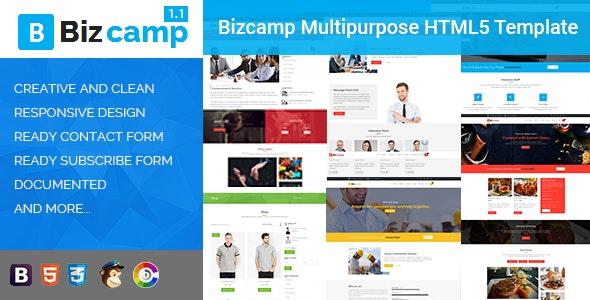 Bizcamp Multipurpose HTML5 Template - Business Corporate