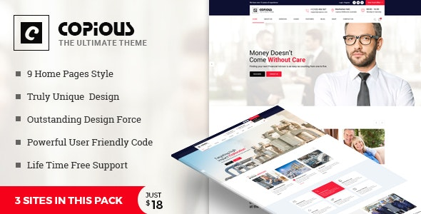 Copious - Multiuse Business, Finance, Industrial, Logistics - Corporate Site Templates