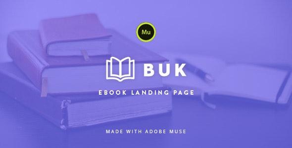 Buk - EBook Landing Page Muse Template - Landing Muse Templates