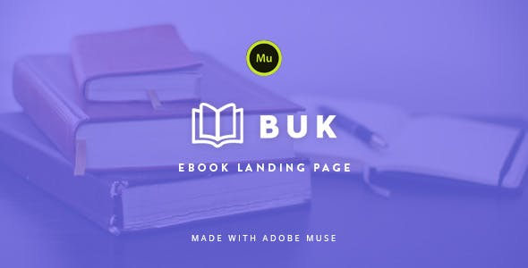 Download Buk - EBook Landing Page Muse Template