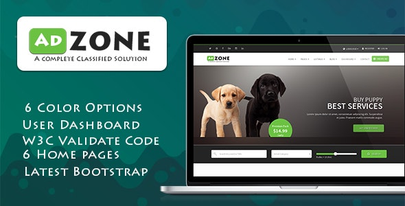 AdZone - A Complete Classified Solution HTML Template + RTL - Marketing Corporate