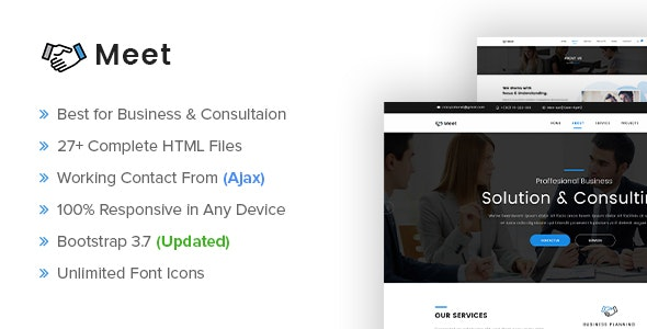 Meet - Business and Consultation Responsive HTML Template - Corporate Site Templates