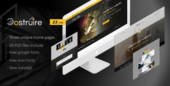 Costruire - Construction PSD Template - Photoshop UI Templates