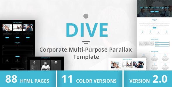 DIVE - Corporate Multi-Purpose Parallax Template - Business Corporate