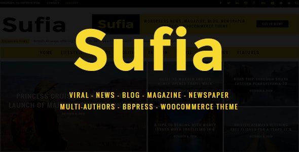 Sufia | News Blog Magazine Newspaper Multipurpose WordPress Theme - News / Editorial Blog / Magazine