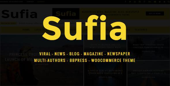 Sufia   News Blog Magazine Newspaper Multipurpose WordPress Theme - News / Editorial Blog / Magazine