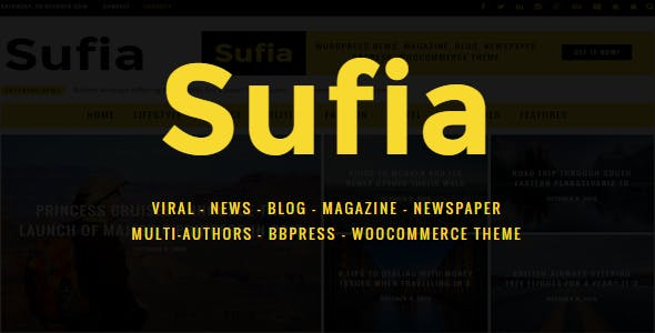 Sufia | News Blog Magazine Newspaper Multipurpose WordPress Theme