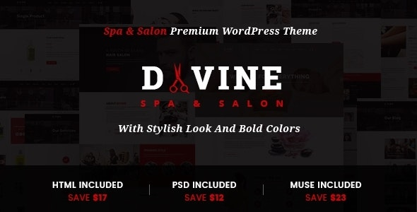 Divine - Salon & Spa WordPress Theme - Health & Beauty Retail