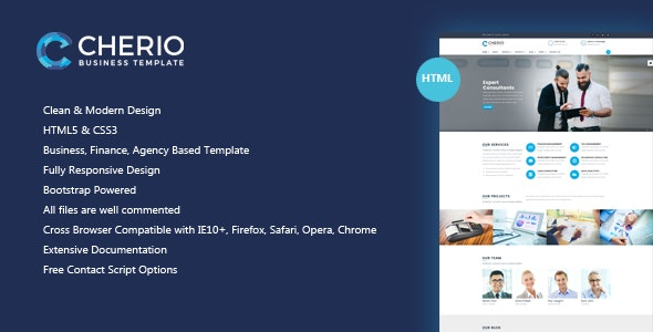 Cherio - Business, Finance, Agency Template - Business Corporate