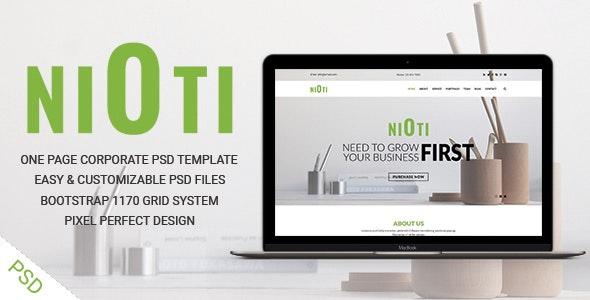 NIOTI - one page Multipurpose psd template - Corporate PSD Templates