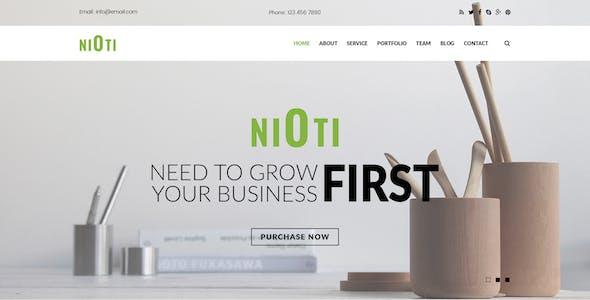 NIOTI - one page Multipurpose psd template
