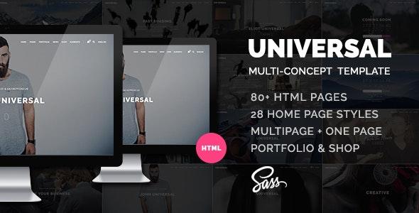 Universal - Smart Multi-purpose html5 template - Business Corporate