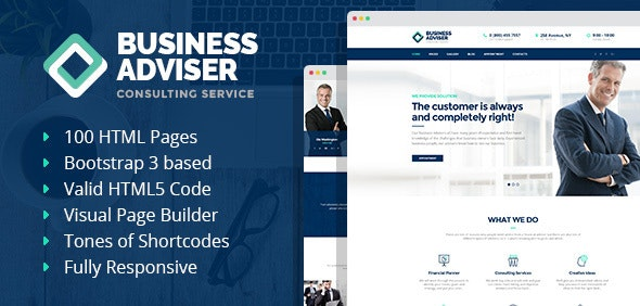 Business Adviser - Multipurpose HTML Template with Visual Page Builder - Business Corporate