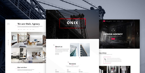 Onix - Multi Purpose Architecture / Interior / Portfolio PSD Template - Creative PSD Templates