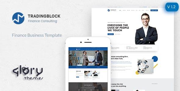 Finance Business HTML Responsive Template | Tradingblock