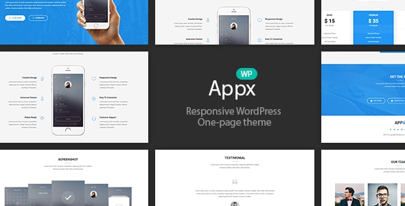 Appx - Mobile App Showcase WordPress Theme - Software Technology