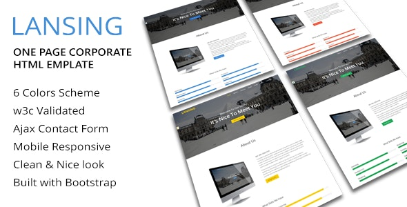 Lansing - One Page Corporate Html Template - Business Corporate