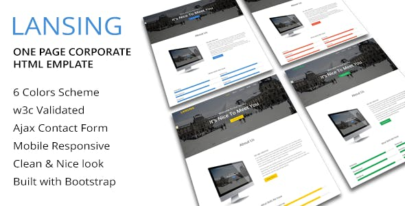 Lansing - One Page Corporate Html Template