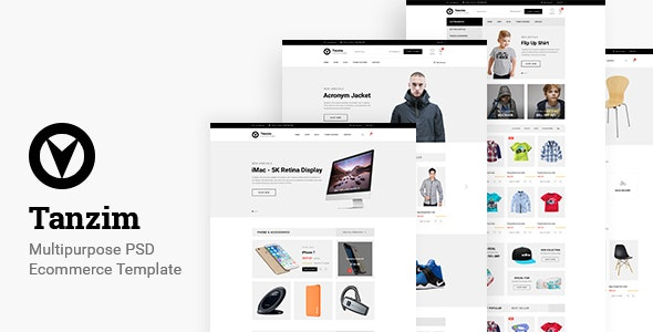 Tanzim - eCommerce PSD Template - Shopping Retail