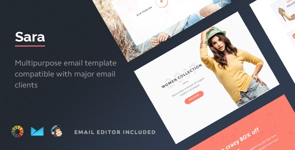 Sara - HTML Email Template + Builder 2.0 - Email Templates Marketing