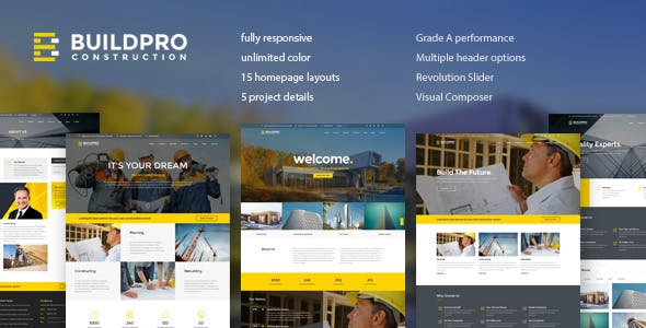 BuildPro - Business, Building & Construction WordPress Theme