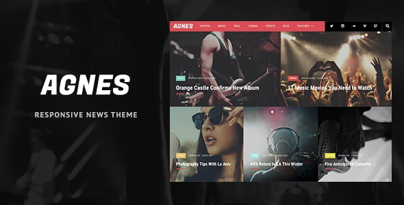 Agnes - Responsive WordPress News Theme - News / Editorial Blog / Magazine