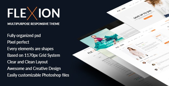 Flexion - PSD Templates For Fashion E-Commerce Store - Fashion Retail