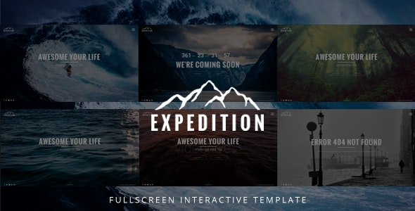 Expedition Fullscreen Interactive Template - Photo Gallery Personal